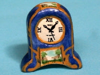 Dolls House Miniature Ceramic Clock, Clocks - The Dolls House Store
