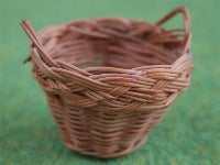 Dolls House Miniature Dark Wicker Basket, Laundry - The Dolls House Store