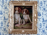 Dolls House Miniature Puppies, Paintings - The Dolls House Store