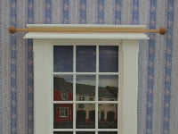 Dolls House Miniature Wooden Curtain Poles Set of 2, Curtains - The Dolls House Store