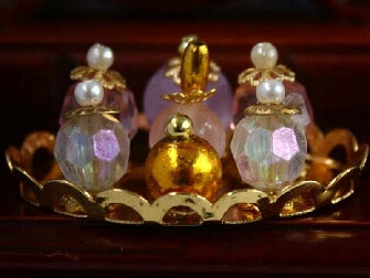 Dolls House Miniature Scent Bottles On Tray, Bedroom - The Dolls House Store