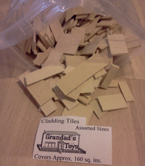 Dolls House Miniature Cladding Tiles Assorted Sizes 160sq ins, Bricks & Tiles - The Dolls House Store