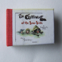 Dolls House Miniature Gollywogg at the Seaside Illustrated Book, Miniature Books - The Dolls House Store