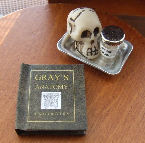 Dolls House Miniature Grays Anatomy Illustrated Book, Miniature Books - The Dolls House Store
