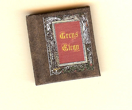 Dolls House Miniature Greys Ellegy Illustrated Book, Miniature Books - The Dolls House Store
