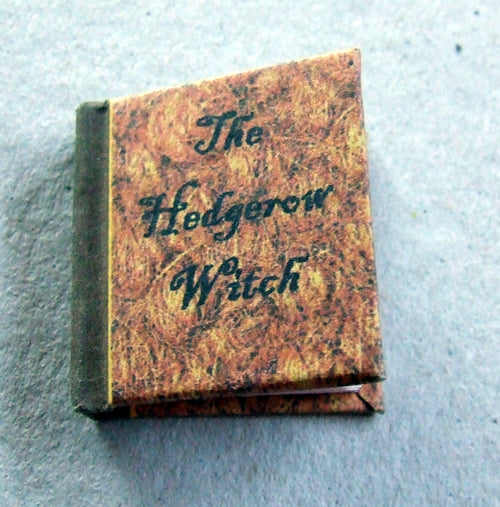 Dolls House Miniature Hedgerow Witch Illustrated Book, Miniature Books - The Dolls House Store