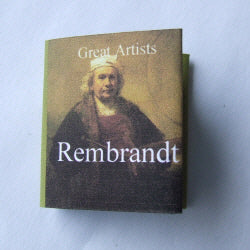 Dolls House Miniature Rembrandt Illustrated Book, Miniature Books - The Dolls House Store
