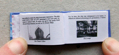 Dolls House Miniature Titanic Illustrated Book, Miniature Books - The Dolls House Store