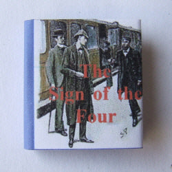 Dolls House Miniature Sign of the Four Book, Miniature Books - The Dolls House Store