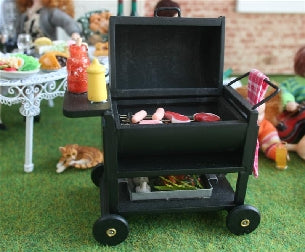 Dolls House Miniature Metal Barbeque, Garden - The Dolls House Store