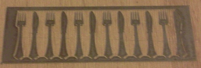 Dolls House Miniature 1/24 Scale Six Knives & Forks, 1/24th Scale - The Dolls House Store