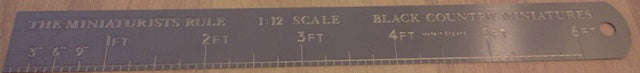 Dolls House Miniature 1/12 Scale Ruler, DIY - The Dolls House Store