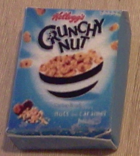 Dolls House Miniature Crunchy Nut Blue, Food and Drink - The Dolls House Store