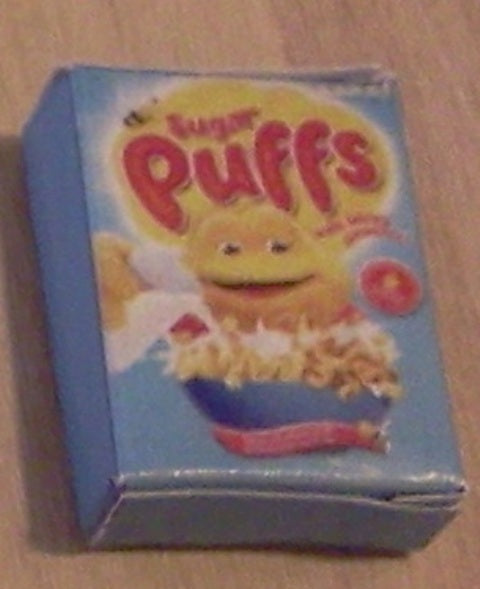Dolls House Miniature Sugar Puffs Packet, Food and Drink - The Dolls House Store
