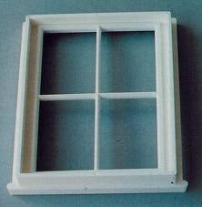 Dolls House Miniature Plastic Victorian Small 4 Pane Window, DIY - The Dolls House Store