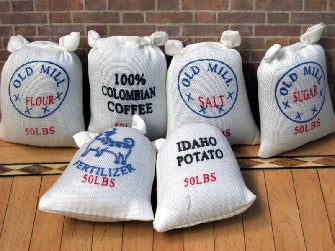 Dolls House Miniature Set Of 6 Food Sacks, Shop Fittings - The Dolls House Store