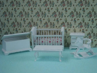 Dolls House Miniature 1/24th Scale Nursery Set, 1/24th Scale - The Dolls House Store