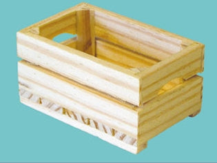 Dolls House Miniature Barewood crate - large, Accessories - The Dolls House Store
