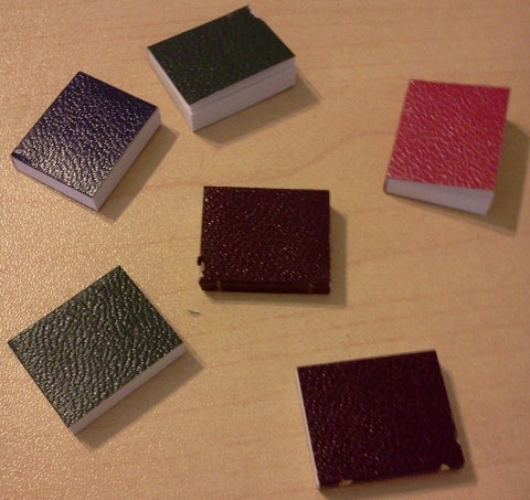 Dolls House Miniature 6 Books With Blank Pages, Study - The Dolls House Store
