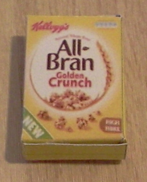 Dolls House Miniature All Bran Crunch, Food and Drink - The Dolls House Store