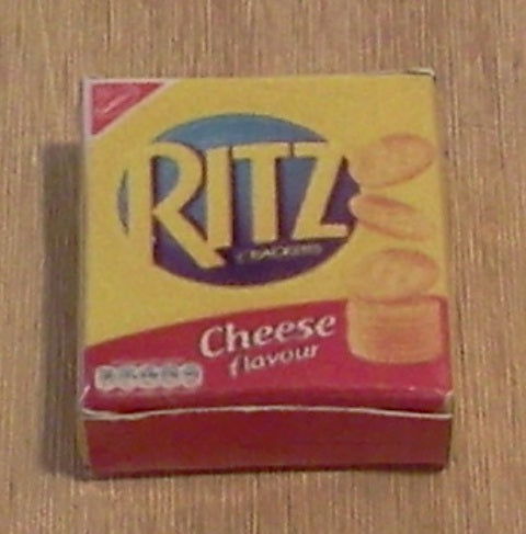 Dolls House Miniature Ritz Cheese, Food and Drink - The Dolls House Store