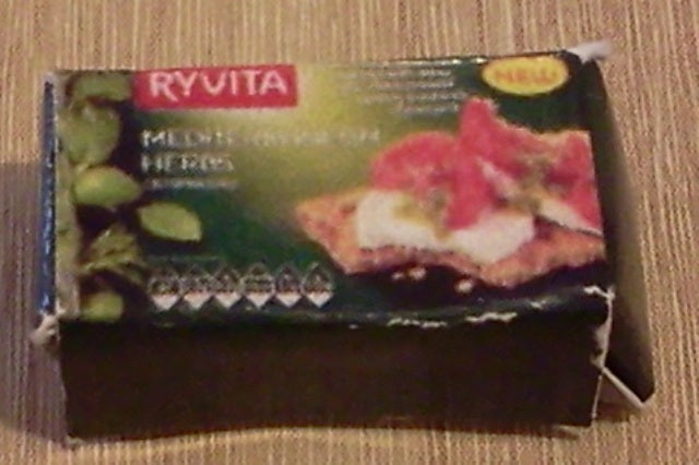 Dolls House Miniature Ryvita Mediterranean Herbs, Food and Drink - The Dolls House Store