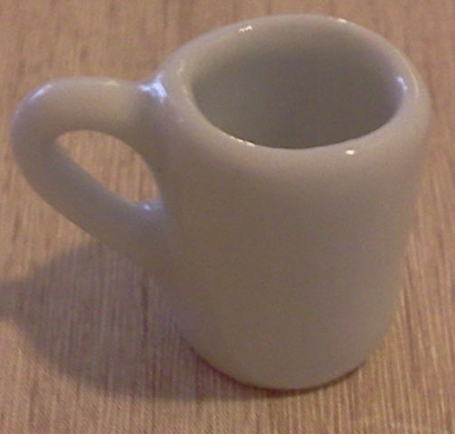 Dolls House Miniature White Tall Mug, Food and Drink - The Dolls House Store