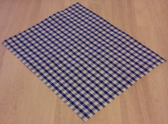 Dolls House Miniature Blue Check Picnic Blanket, Garden - The Dolls House Store