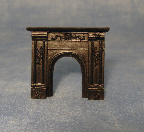 Dolls House Miniature 1/24 Scale Black Fireplace, 1/24th Scale - The Dolls House Store