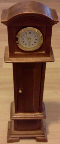 Dolls House Miniature Working Grandfather Clock Oak, Clocks - The Dolls House Store