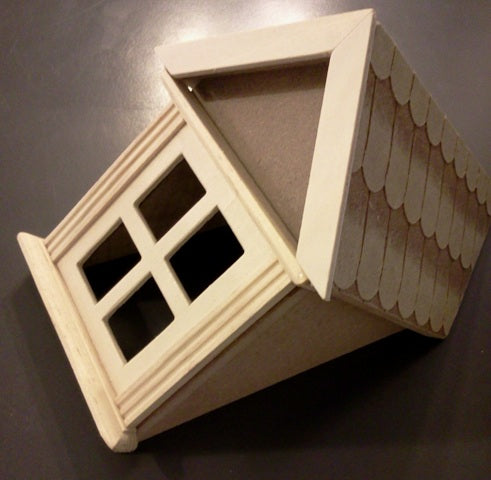 Dolls House Miniature One Dormer Window, DIY - The Dolls House Store