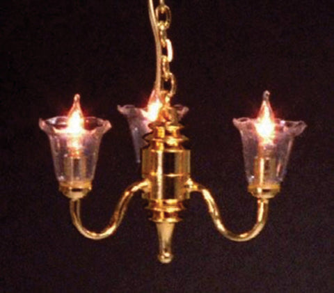 Dolls House Miniature 3 Arm Chandelier, Lighting - The Dolls House Store