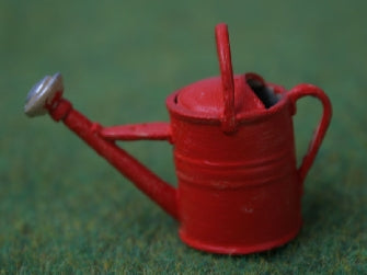 Dolls House Miniature Red Watering Can, Garden - The Dolls House Store