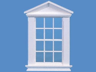 Dolls House Miniature 12 Pane Georgian Window, Doors and Windows - The Dolls House Store