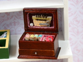 Dolls House Miniature Lovely Needlework Box, Sewing Room - The Dolls House Store