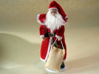 Dolls House Miniature Jolly Old Santa, Christmas - The Dolls House Store