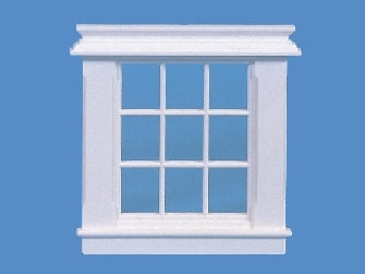 Dolls House Miniature 9 Pane Georgian Window, Doors and Windows - The Dolls House Store