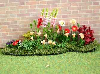 Dolls House Miniature Flower Bed, Garden - The Dolls House Store