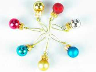 Dolls House Miniature Christmas Decoration Glass Balls, Christmas - The Dolls House Store