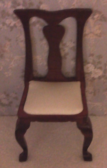 Dolls House Miniature Chippendale Side Chair, Dining Room - The Dolls House Store