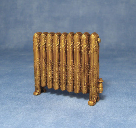 Dolls House Miniature Radiator Antique Gold, Miscellaneous - The Dolls House Store