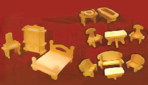 Dolls House Miniature 1/48th Furniture Set, Accessories - The Dolls House Store