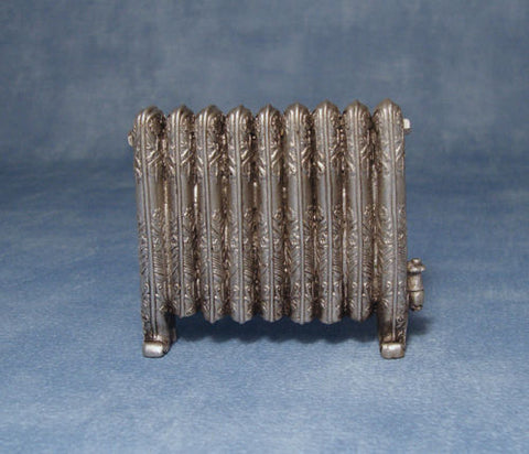 Dolls House Miniature Radiator Antique Silver, Miscellaneous - The Dolls House Store