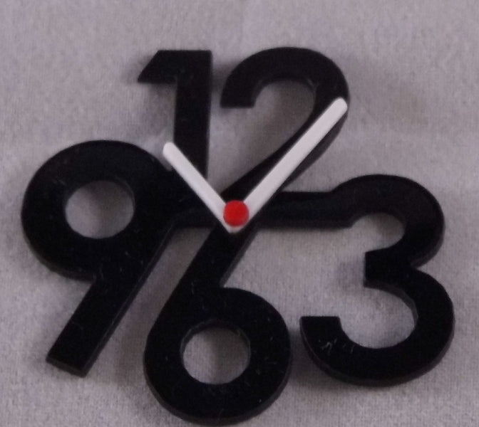 Dolls House Miniature Acrylic Black Clock, * Exclusive Products * - The Dolls House Store