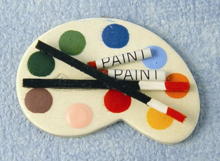 Dolls House Miniature Artists Pallet, Accessories - The Dolls House Store