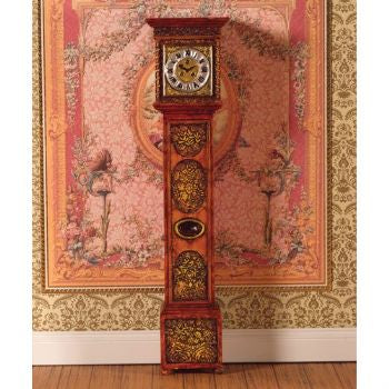 Dolls House Miniature Ornately Carved Grandfather Clock (PR), Clocks - The Dolls House Store
