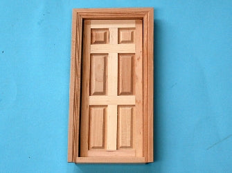 Dolls House Miniature Internal 6 Panel Door Shorter (Value), Doors and Windows - The Dolls House Store