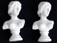 Dolls House Miniature Venus Bust, 2 Pc, Accessories - The Dolls House Store