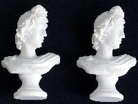 Dolls House Miniature Apollo Bust, 2 Pc, Accessories - The Dolls House Store