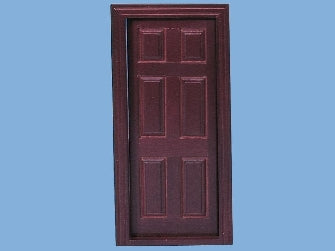 Dolls House Miniature Mahogany Internal Door (inc 2x Architrave), Doors and Windows - The Dolls House Store